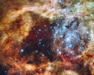 cluster of stars R136