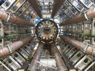 The giant particle detector Atlas LHC