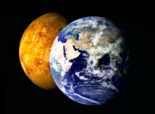 the atmosphere of Earth and Venus