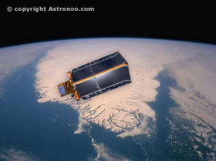 Cryosat-2 Space Telescope above greenland
