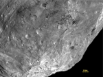 the south pole of the asteroid Vesta