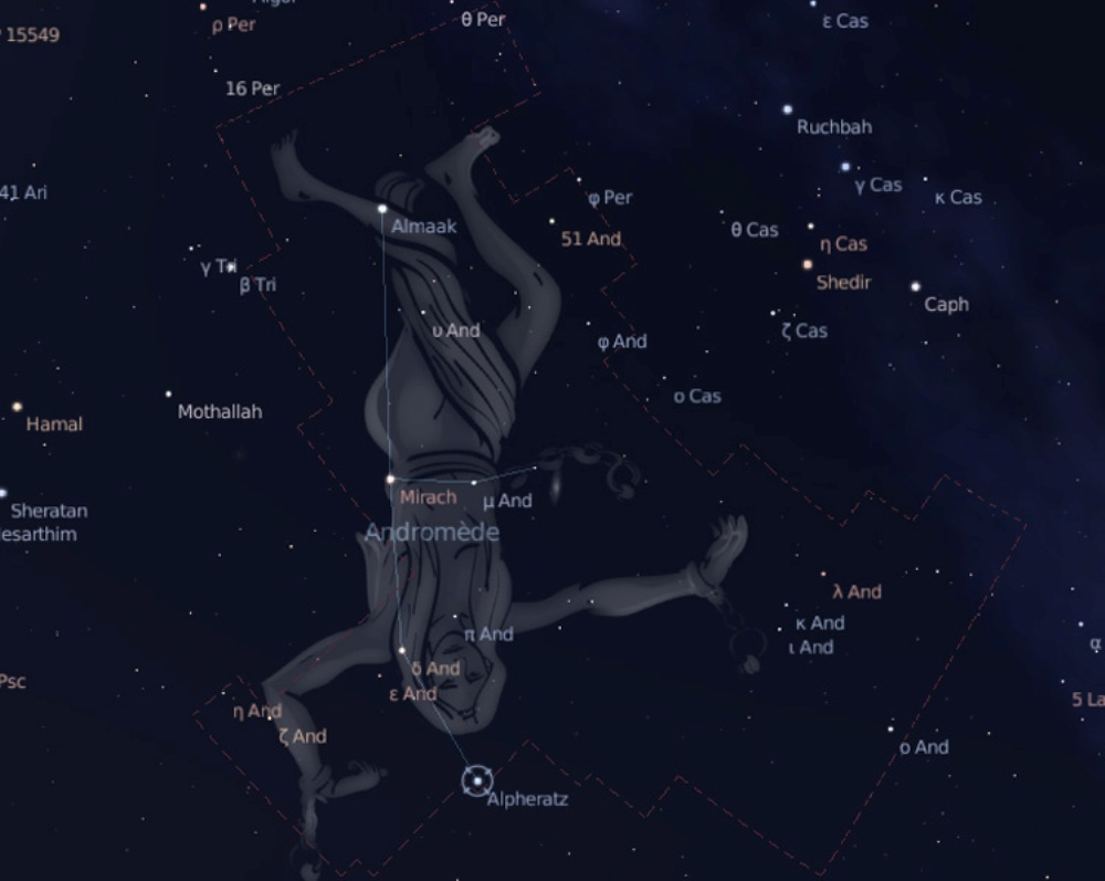 constellation d'andromède