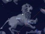 May sky, constellation Leo