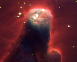Cone Nebula in the constellation of the Unicorn or NGC 2264
