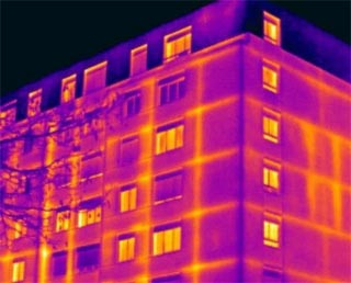 Energy audit using infrared