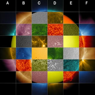 Colors of the Sun wavelengths
