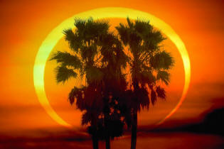 annular eclipse or ring of fire