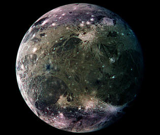 Jupiter's moon Ganymede as seen by Galileo