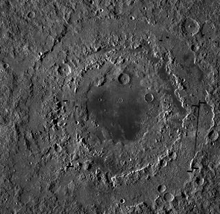 Mare orientale, Eastern Sea, on the Moon taken by RSO