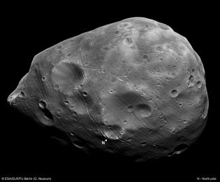 Phobos by Mars Express flew over