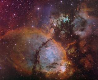 nebula IC 1795, a cloud of dust