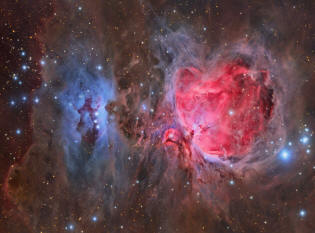 nebulae in the region of Orion
