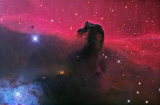 Horsehead Nebula in the constellation of Orion.