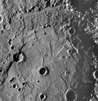 Rembrandt impact basin on Mercury