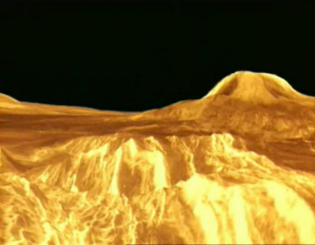 Surface of the planet Venus taken by the Magellan probe