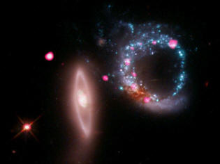 ARP 147 and black holes