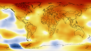 Global temperature between 2008 and 2012