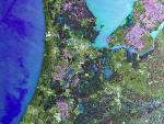 netherland seen by the envisat satellite