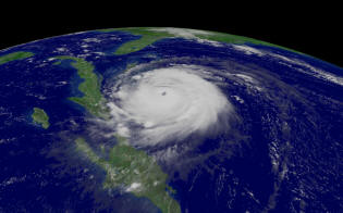 satellite noaa, hurrican Frances