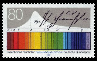 electromagnetic spectrum Fraunhofer