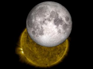 Apparent size of the Moon and the Sun