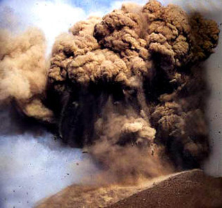 Disaster of great eruption