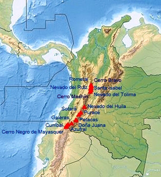 volcanoes of Colombia